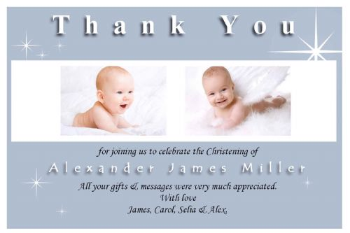 10 Personalised Thank you PHOTO Cards N137